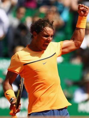 221bb71c57 Nadal comemora ponto diante de Wawrinka (Foto  Michael Steele Getty Images)