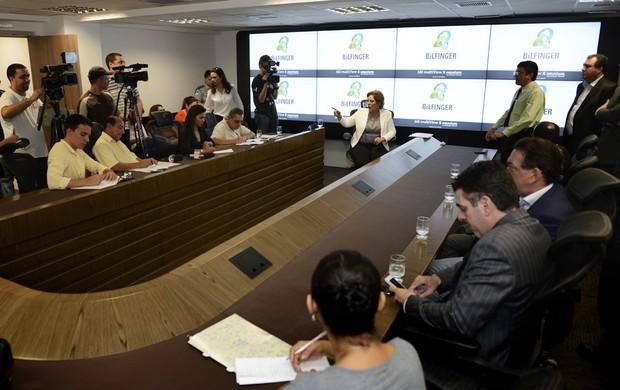 Presidentes de ABC e América-RN participam de evento na Escola de Governo (Foto: Elisa Elsie/Divulgação )