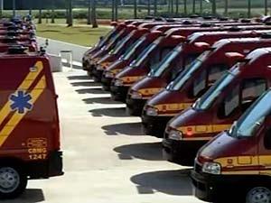 Governo entrega viaturas aos bombeiros de várias cidades de MG  (Foto: Reprodução/TV Integração)