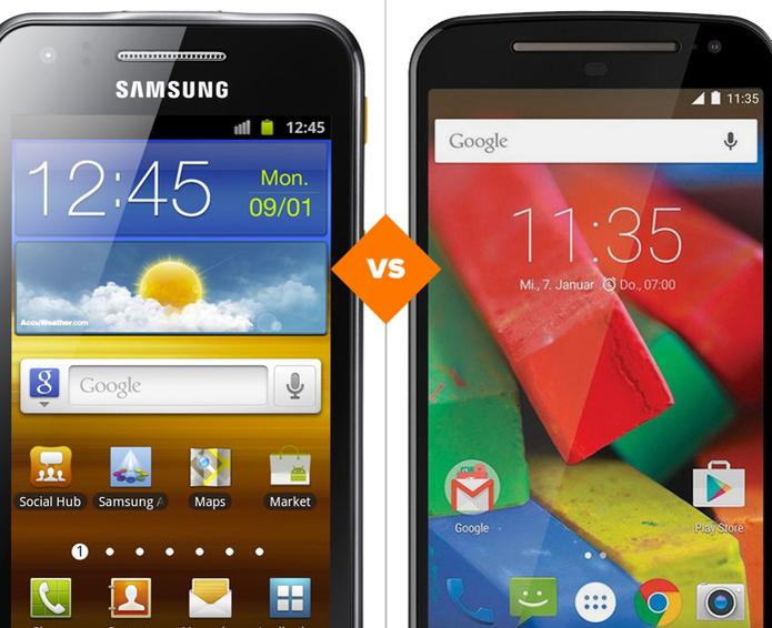 Galaxy Beam e Moto G 2: veja o comparativo de ficha técnica (Foto: Arte/TechTudo)