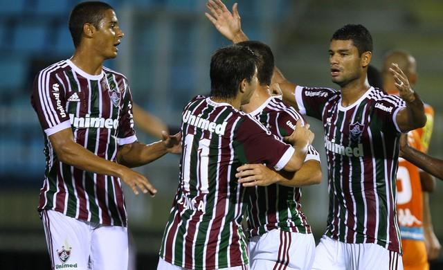 Fluminense comemora contra o Audax (Foto: Photocamera)