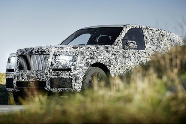 Teaser de primeiro SUV da Rolls-Royce (Foto: Rolls-Royce)
