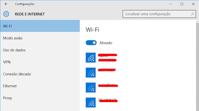 Conectando em redes Wi-Fi com SSID visível (Foto: Reprodução/Edivaldo Brito)