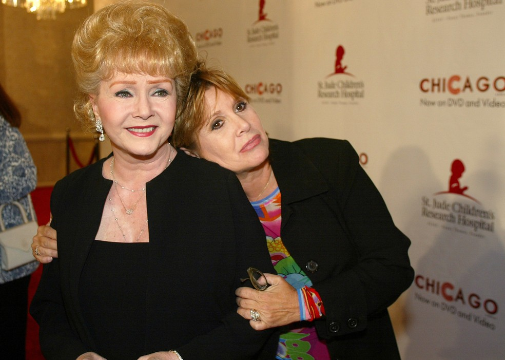 Debbie Reynolds e Carrie Fisher (Foto: Foto AP/Jill Connelly)