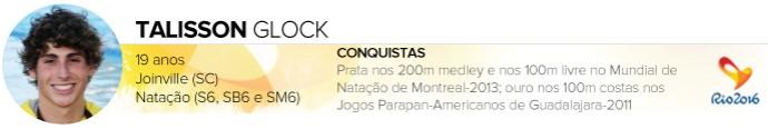 Headers_ATLETAS-PARALIMPICOS_Rio-2016_TALISSON-GLOCK (Foto: Infoesporte)