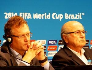 Joseph blatter jerome valcke FIFA Coletiva (Foto: Vicente Seda)