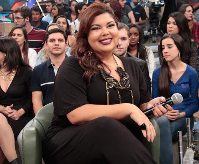 Fabiana Karla participa da gravação do programa Altas Horas (Foto: Marcos Mazini/Gshow)