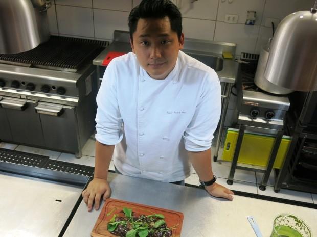 André Ahn idealizou o prato pensando no Festival Gastronômico (Foto: Orion Pires / G1)