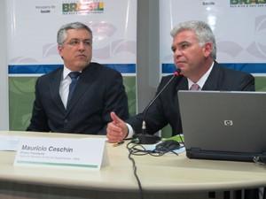 Padilha e Ceschin (Foto: Lilian Quaino/G1)
