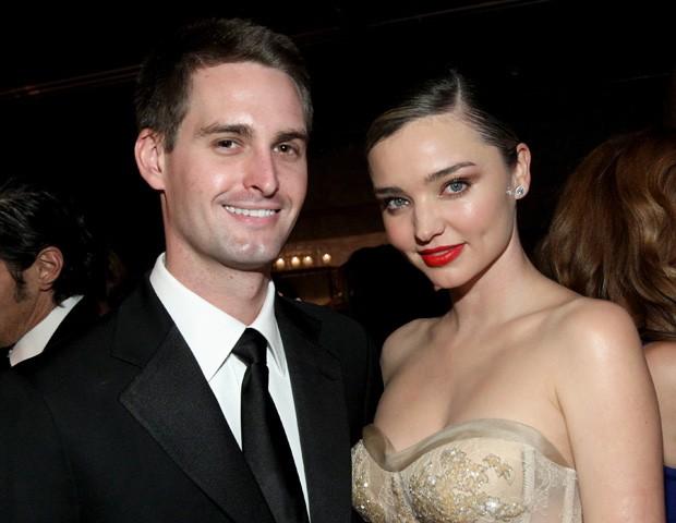 O casal Miranda Kerr e Evan Spiegel (Foto: Tommaso Boddi/Getty Images)
