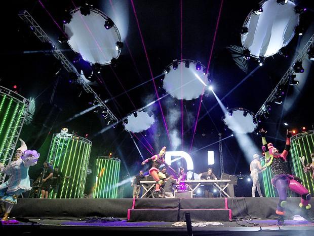 ATL DJ e Grupo Tholl encerraram edição de 2014 do Planeta Atlântida (Foto: Vinícius Costa/Agência Preview)