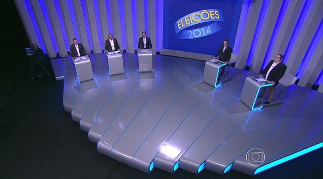 Cinco candidatos ao governo do RJ participam de debate na TV Globo