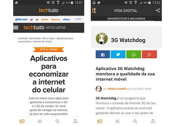 Aplicativos podem ajudar a manter o controle na internet móvel do Android (Foto: Reprodução/Barbara Mannara)