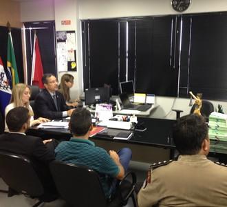Reunião em Alagoas (Foto: Jota Rufino/GloboEsporte.com)