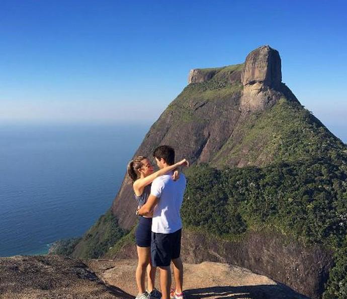 Juliano Laham e Juliana Paiva passeando (Foto: Arquivo pessoal)
