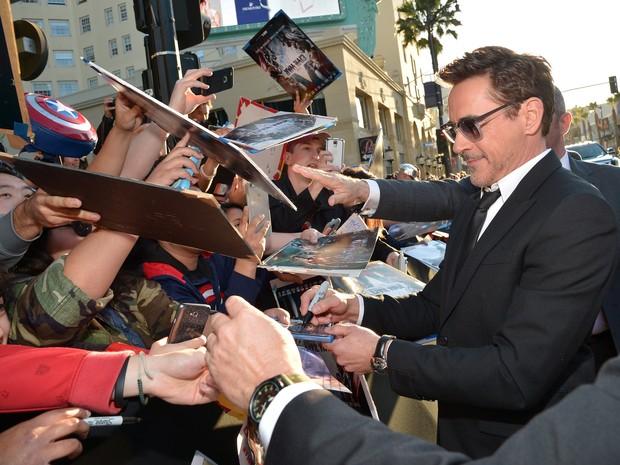 Robert Downey Jr. em première em Los Angeles, nos Estados Unidos (Foto: Charley Gallay/ Getty Images/ AFP)