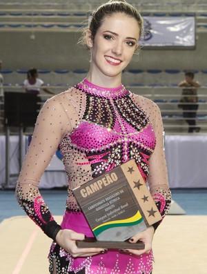 Natália Gaudio campeã brasileira individual ginástica rítmica (Foto: Ricardo Bufolin/CBG)