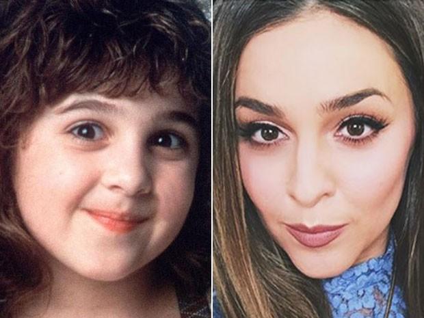 À esquerda, Alisan Porter em cena do filme 'A malandrinha' (1991); à direita, a ex-estrela mirim e agora cantora em imagem divulgada em maio de 2015 (Foto: Divulgação e Reprodução/Instagram/im_alisanporter)