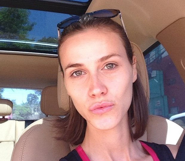 Renata Kuerten sem maquiagem (Foto: Reprodução)