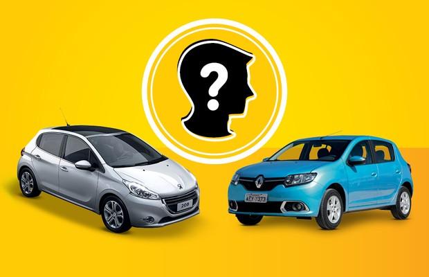Que Carro eu Compro: Renault Sandero 1.6 Dynamique e Peugeot 208 1.6 Active Pack (Foto: Autoesporte)