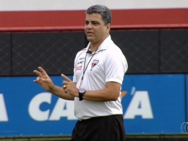 Marcelo Cabo, técnico do Atlético-GO, está desaparecido desde domingo (15) em Goiânia Goiás (Foto: Reprodução/TV Anhanguera)