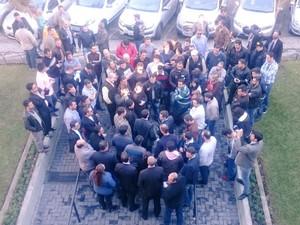 Motoristas do Uber acompanharam a sessão e conversaram com vereadores (Foto: Câmara de Curitiba/Divulgação)