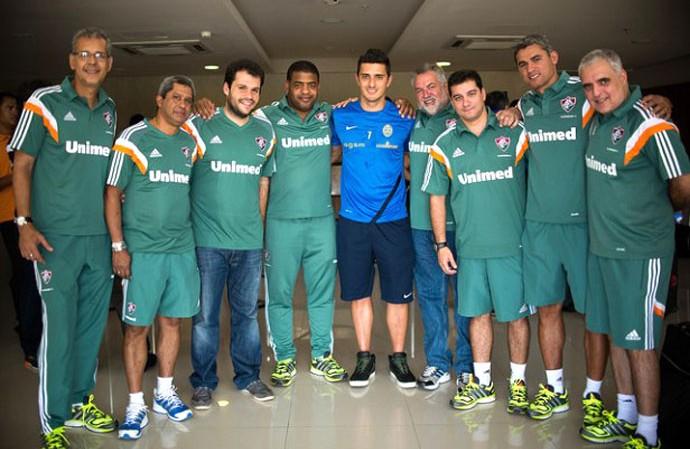 Marquinho reencontro Fluminense (Foto: Divulgação / Site Oficial do Fluminense)