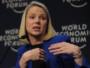 22/01 - Ceo do Yahoo, Marissa Mayer participa da abertura do Fórum Econômico Mundial  (Foto: AFP)