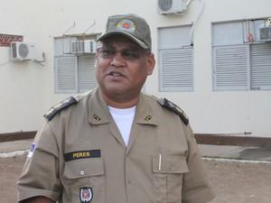 Comandante do 5º BPM de Petrolina, Ricardo Peres (Foto: Taisa Alencar / G1)