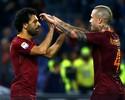 Roma vence Bologna com hat-trick de Salah e não se desgarra do Juventus