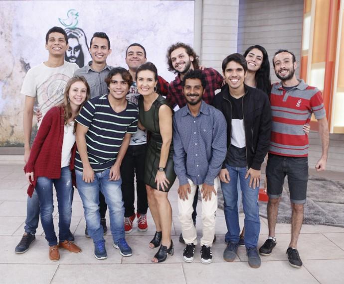 Convidados que assistiram ao programa com a Fátima  (Foto: Ellen Soares/Gshow)