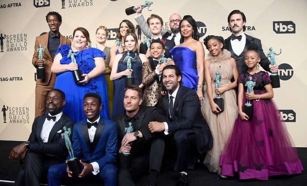 Elenco de 'This is us' no SAG Awards (Foto: Frazer Harrison)