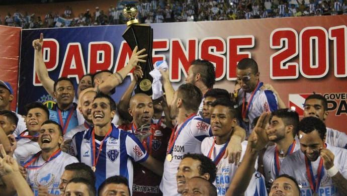 Paysandu, Campeão Paraense 2016 (Foto: Fernando Torres/Ascom Paysandu)