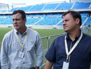 Paulo Rossi e Arthur Couto, gerentes do consórcio Arena das Dunas (Foto: Augusto Gomes/GloboEsporte.com)