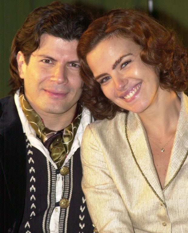 Paulo Ricardo com Ana Paula Arósio na novela Esperança (Foto: João Miguel Júnior/TV Globo)