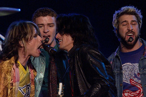 Aerosmith e `N Sync (2001) (Foto: Getty Images)