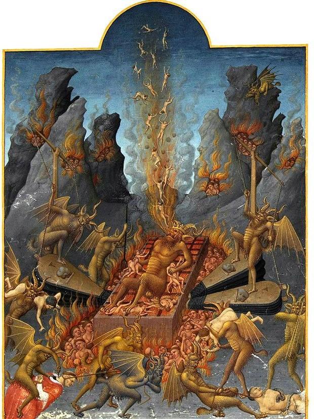 Na obra dos irmãos Linbourg (1385–1416), Lúcifer tortura e é torturado (Foto: TRES RICHES HEURES DU DUC DE BERRY POR LIMBOURG BROTHERS )