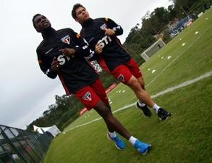 Negueba e Osvaldo São Paulo (Foto: divulgação/saopaulofc.net )