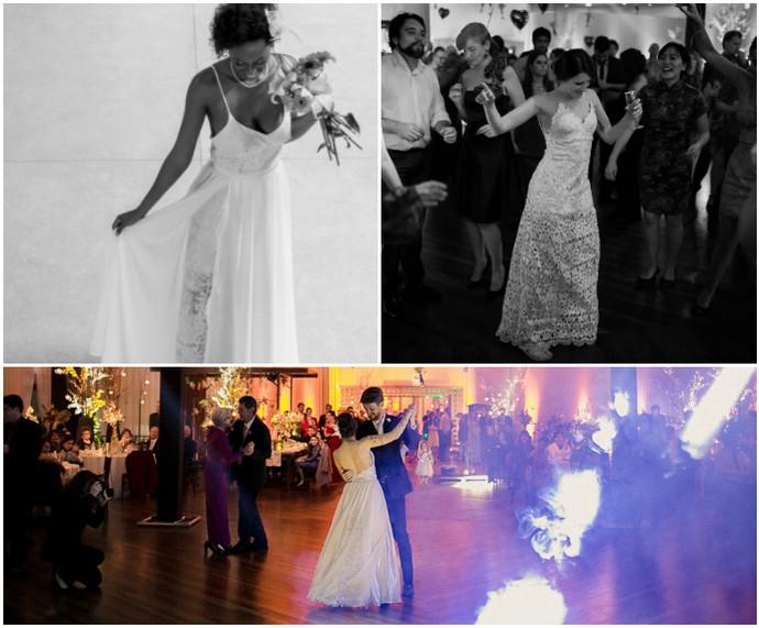 O Amor É Simples Mistura com Rodaika vestidos diferentes Natália Pegoraro Vestido 2 em 1 - Gemini Julieta para uma noiva trapezista Vestido Flower by Chai  (Foto: Divulgação/O Amor É Simples)