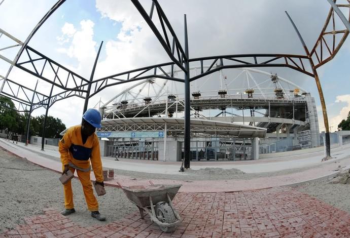 Engenhão fechado para obras (Foto: André Durão)