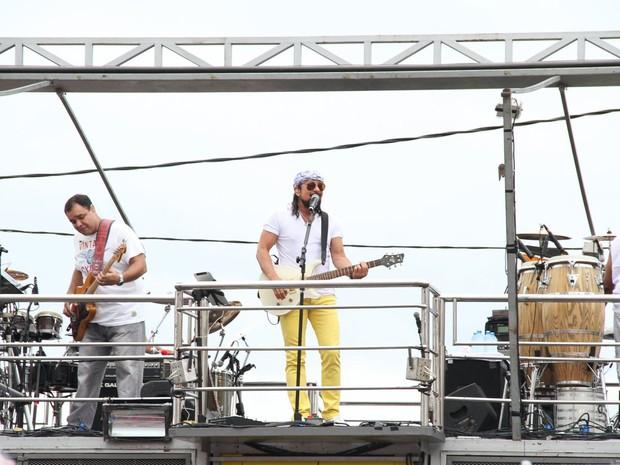Este é o último carnaval de Bell Marques à frente do Chiclete com Banana' (Foto: Léo Franco/AgNews)