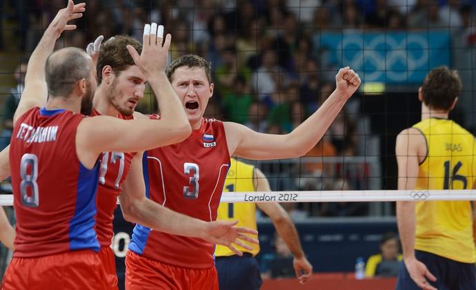 Tetyukhin russia x brasil volei londres 2012 olimpiadas (Foto: AFP)