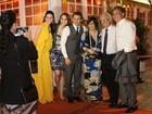 Glória Pires, Murilo Rosa e Fernanda Tavares jantam juntos no Rio