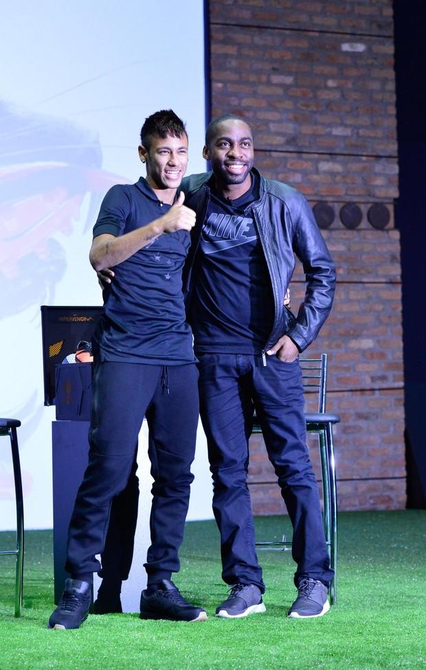 Neymar e Lazaro Ramos (Foto: André Muzell/AgNews)