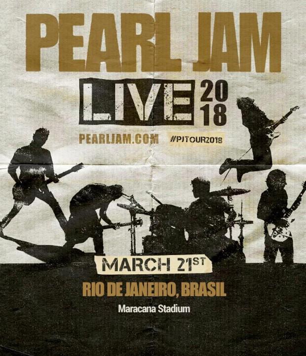 Pearl Jam anuncia show no Rio (Foto: Reprodução/Instagram)
