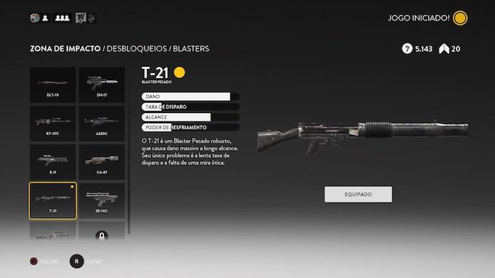 Desbloqueie as 11 armas do jogo no decorrer da jogatina (Foto: Reprodução/Victor Teixeira)