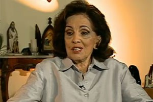 A mãe da presidente Dilma em entrevista ao Fantástico em novembro do ano passado (Foto: Reprodução / TV Globo)