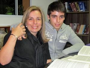 Maria Augusta e Ricardo (Foto: Vanessa Fajardo/ G1)