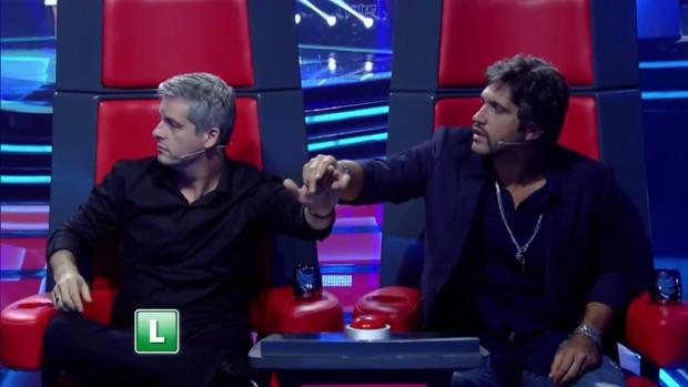 Carlinhos Brown, Ivete Sangalo, Victor e Léo: os técnicos do The Voice Kids (Foto: Reprodução/Globo)