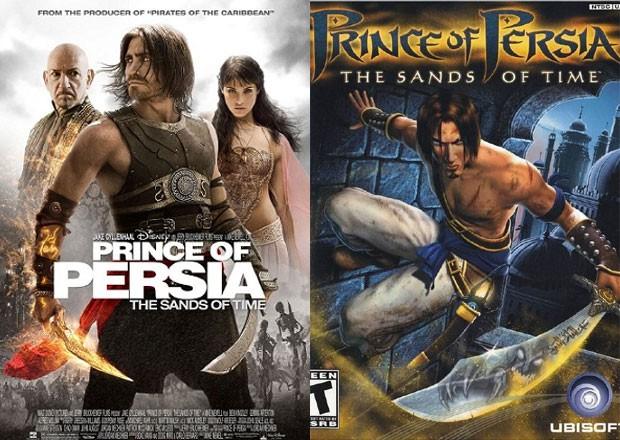 Pôster do filme baseado em 'Prince of Persia' e o game de mesmo nome (à dir.) (Foto: Divulgação/IMDB/Ubisoft)